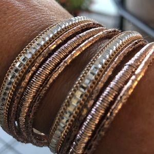 Wrap Rose Gold Crystal Bracelet